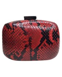 Alexandre Birman Red Python Clutches