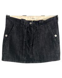 Étoile Isabel Marant Black Denim - Jeans Skirt