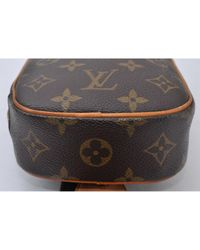 Borsa a mano in tela marrone di Louis Vuitton in Brown