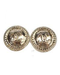 Chanel Metallic Pre-owned Earrings