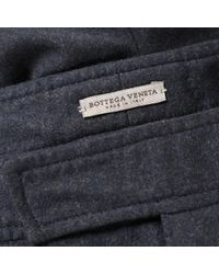Pantalones en lana marino Bottega Veneta de hombre de color Blue