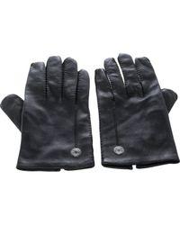 Gants en Cuir Noir Hermès pour homme en coloris Black