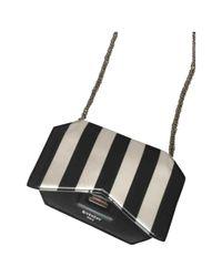 Givenchy Black Bow Cut Leder Handtaschen