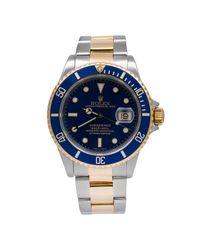 Montres Submariner en Or et acier Bleu Rolex pour homme en coloris Blue