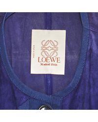 Loewe Vintage Purple Suede Top