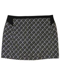 Maje Black Multicolour Synthetic Skirt