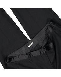 Pantalon court en laine Miu Miu en coloris Black