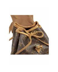 Zaino in tela marrone Montsouris di Louis Vuitton in Brown