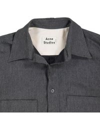 Acne Gray Grey Cotton Shirt for men