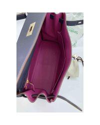 Hermès Blue Kelly 32 Leder Handtaschen