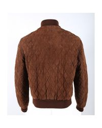 Burberry Brown Suede Jacket for men