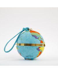 Olympia Le-Tan Blue Clutch Bag