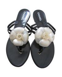 Chanel Black Flip-flops