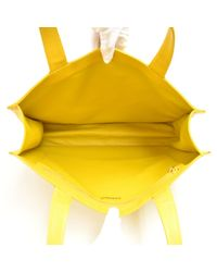 Chanel Yellow Leder Shopper