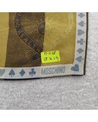 Moschino Green Cotton Scarf