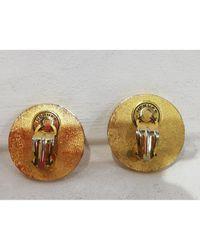 Pendientes en acero dorado Médor Hermès de color Multicolor