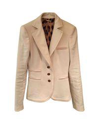 Roberto Cavalli Natural \n Beige Linen Jacket