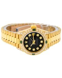 Rolex Black Lady Datejust 26mm Gelbgold Uhren