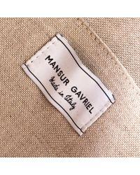 Borsa a mano in pelle verde Circle di Mansur Gavriel in Green