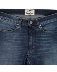 Acne \n Blue Cotton - Elasthane Jeans for men