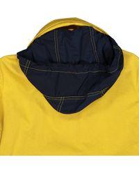 Burberry Mantel Baumwolle Gelb in Yellow für Herren