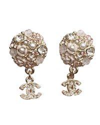 Chanel - Pink Earrings - Lyst