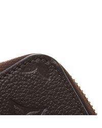 Louis Vuitton Brown Zippy Leder Portemonnaies