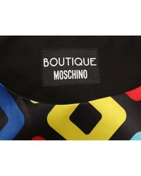 Robe en Polyester Noir Moschino en coloris Black