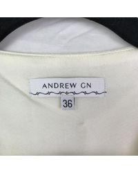 Top \N en Polyester Blanc Andrew Gn en coloris White