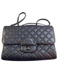 Chanel Gray Leather Crossbody Bag