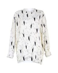 Moschino White Wolle Bluse