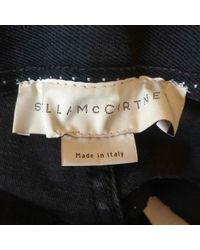 Stella McCartney Blue Cotton - Elasthane