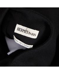 Abrigo en cachemira negro Hermès de color Black