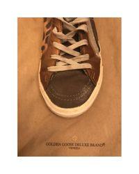 Baskets à paillettes Golden Goose Deluxe Brand en coloris Brown