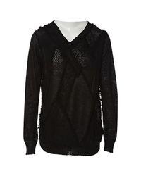 Junya Watanabe Black Leinen Pullover