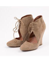 Alaïa Natural Lace Up Boots