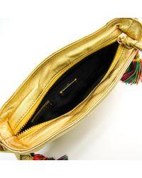 Borsa a mano in pelle dorato di Loewe in Multicolor