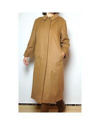 Abrigo en cachemira camel \N Burberry de color Natural
