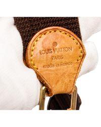 Louis Vuitton Brown Reporter Leinen Cross Body Tashe