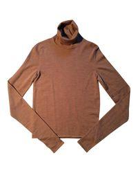 Maison Margiela Brown Wool Pull for men
