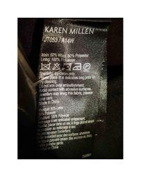 Karen Millen Black Wolle Blouson