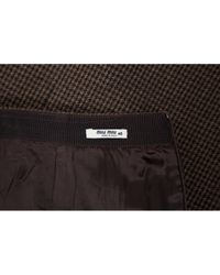 Miu Miu \n Brown Wool Skirt