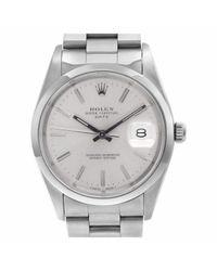 Reloj en acero plateado Oyster Perpetual 34mm Rolex de color Metallic