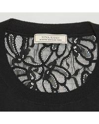 Top in cotone nero di Nina Ricci in Black