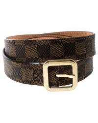 Cinturón en cuero marrón Louis Vuitton de color Brown