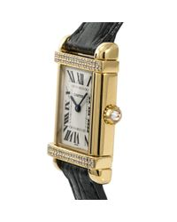 Reloj en oro amarillo blanco Cartier de color White