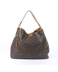 Louis Vuitton Brown Delightful Leinen Shopper
