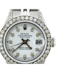 Reloj en acero blanco Lady DateJust 26mm Rolex de color White