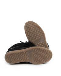 Baskets Beckett en Suede Noir Isabel Marant en coloris Black
