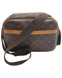 Louis Vuitton Reporter Brown Cloth Handbag